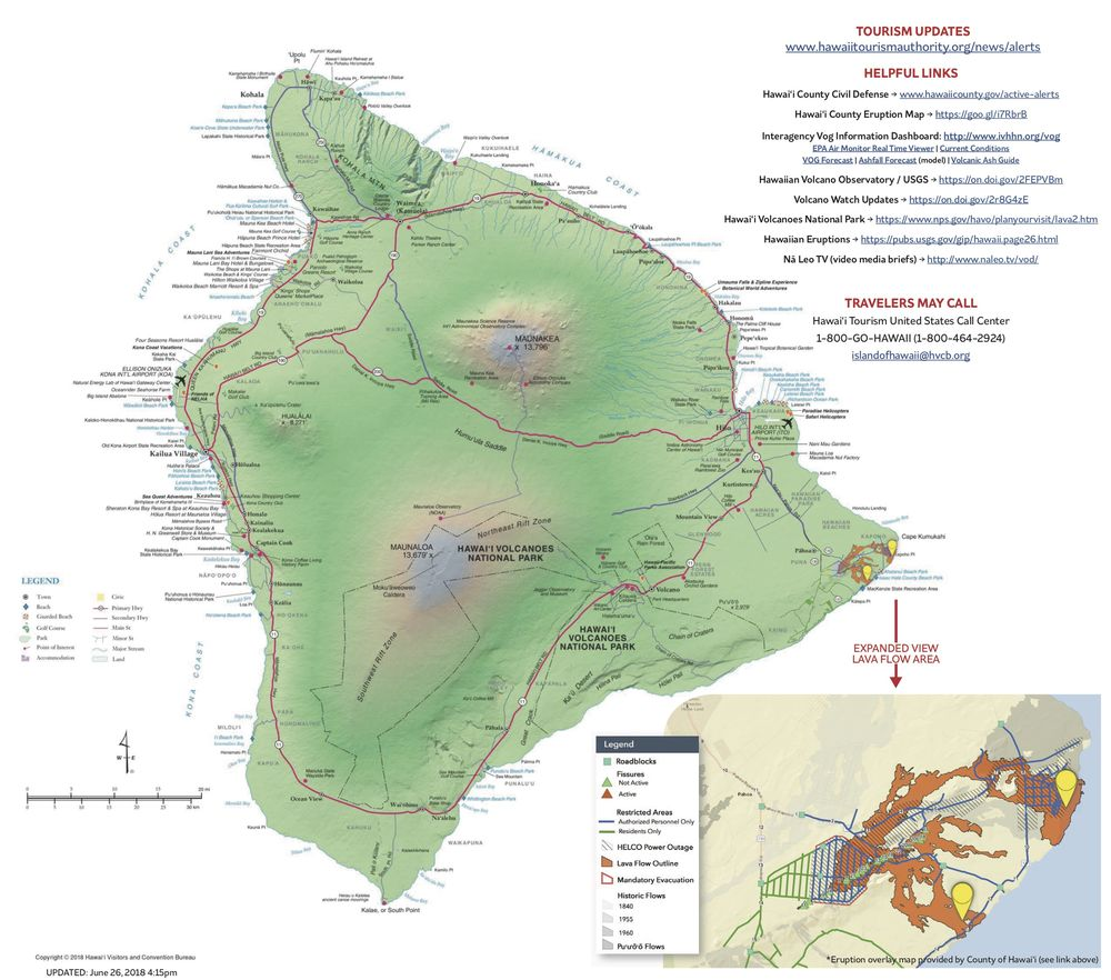 Hawaii Map Lava.Scuba Diving Activities In Kona Not Impacted By Volcano Scuba Diving