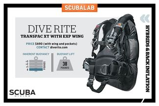DIVE RITE - TRANSPAC XT WITH EXP WING BC