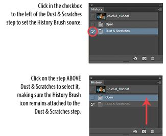 Get rid of specks and backscatter in photos with photoshop