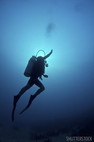 scuba diving when you ascend too fast