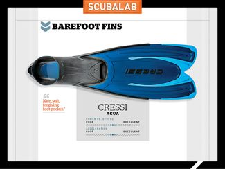 Cressi Agua Scuba Diving Fin ScubaLab Review Test