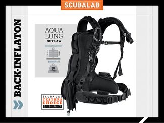 Aqua Lung Outlaw Back-inflate scuba diving BC ScubaLab review