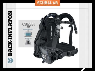 Cressi Ace scuba diving BC back-inflate ScubaLab review