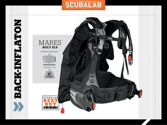 Mares Bolt SLS back-inflate BC ScubaLab gear review.