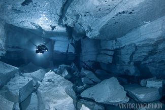 Orda Cave, Russia cave diving underwater photography
