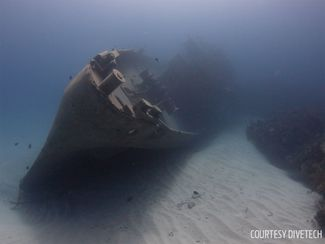 Grand Cayman's Kittiwake wreck has been pushed over by Tropical Storm Nate