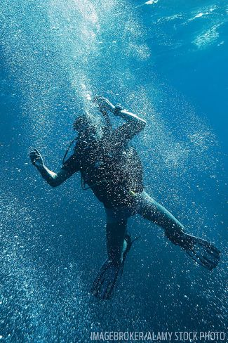 Scuba diving training how to avoid and manage panic