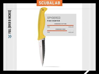 18 brand new dive knives tested by scubalab scuba diving for Spyderco fish hunter
