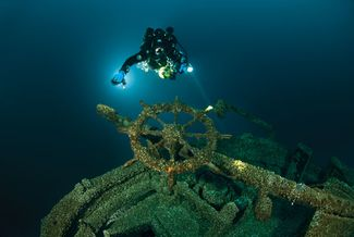Scuba diving wrecks in Thunder Bay National Marine Sanctuary in Michigan