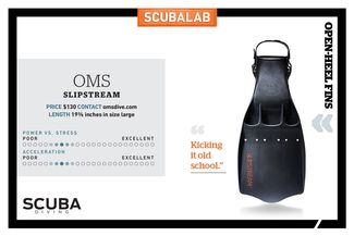 ScubaLab fin review OMS Slipstream