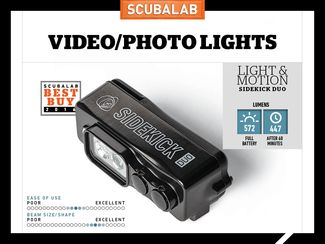 Light and Motion Scuba Diving Video Light Reviewed by ScubaLab