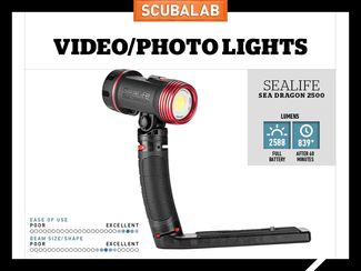 SeaLife Sea Dragon 2500 Underwater Video Light Reviewed by ScubaLab
