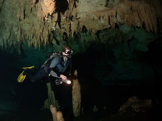 Cave Diving Cenote Underwater Photo