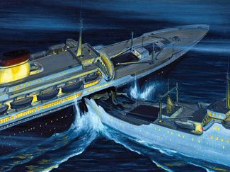 Illustration of Andrea Doria Crash and Sinking
