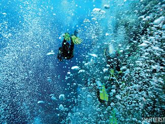 negative entry scuba diving