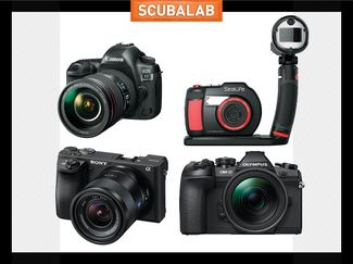 Advanced cameras for underwater photography