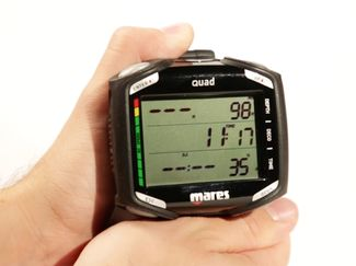 Mares Quad dive computer ScubaLab review video testers choice