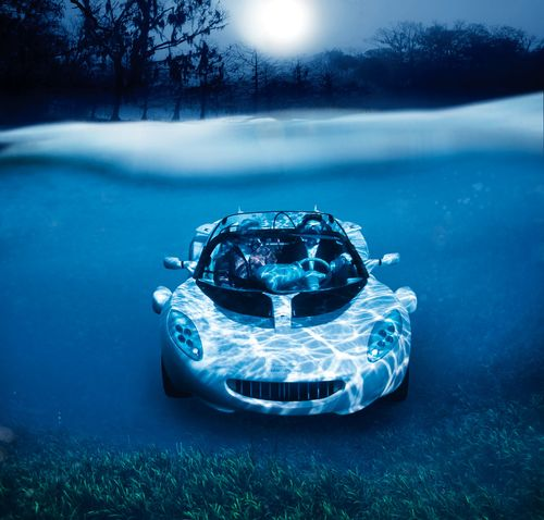 Car Inspired By James Bond Movies Drives Underwater Scuba
