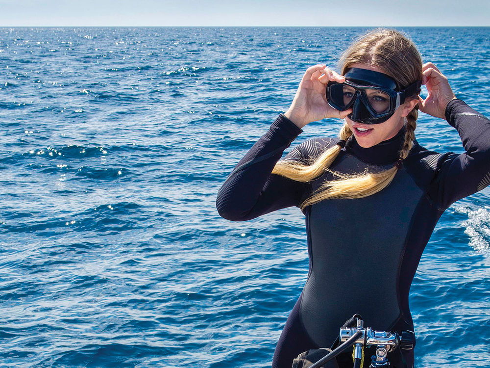 Image result for womaN IN snorkel gear