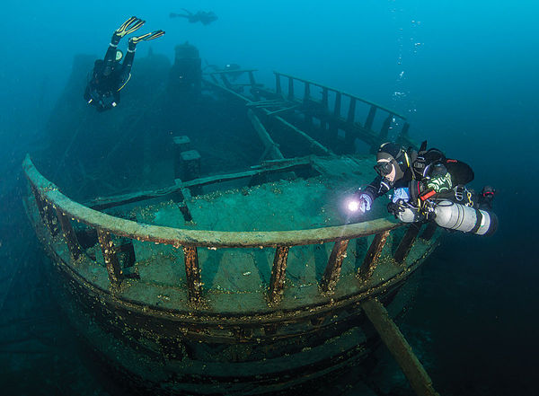 The Forest City Shipwreck in Tobermory