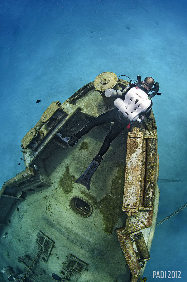 Wreck Diving in the Cayman Islands Underwater Photo