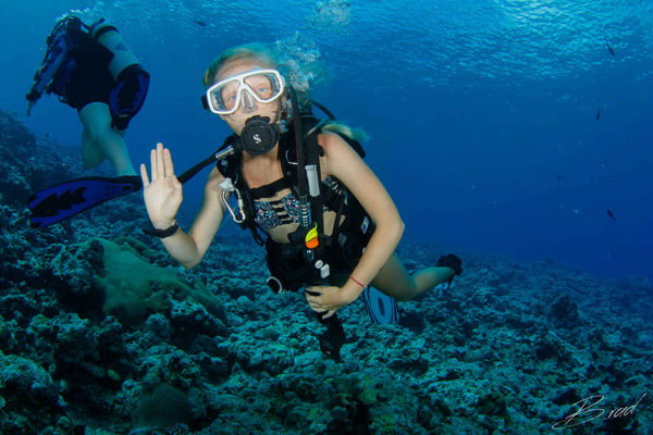 scuba diving yap underwater photo kids