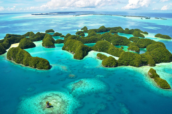 Aerial View Palau Scuba Diving
