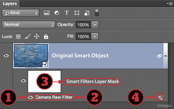 Functions of a Smart Filter in Photoshop