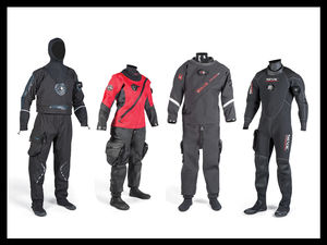 Scuba Diving Drysuits from Hollis, Bare, Camaro and Seac