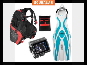 Scuba diving gear new bc fins and computer